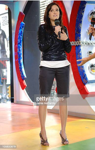 """Mandy Moore during Mandy Moore and Missy Elliott Visit MTV's """"TRL"""" - April 19, 2006 at MTV Studios in New York City, New York, United States."""