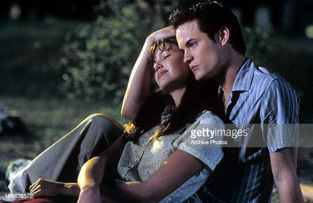 Mandy Moore is comforted by Shane West in a scene from the film 'A Walk To Remember' 2002