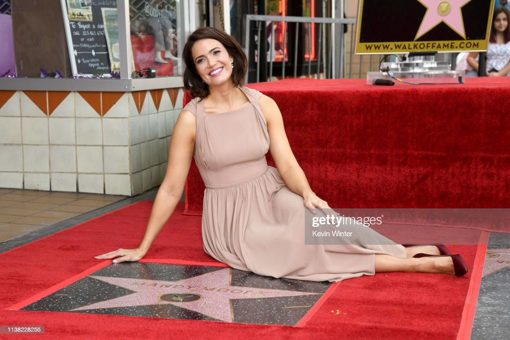 CA: Mandy Moore Honored With Star On The Hollywood Walk Of Fame