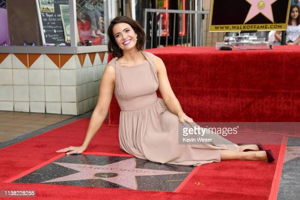 Mandy Moore is honored with a star on The Hollywood Walk Of Fame on March 25 2019 in Hollywood California