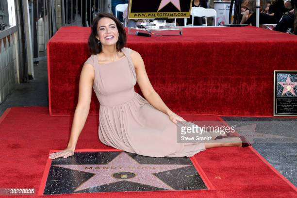 Mandy Moore is honored with a star on The Hollywood Walk Of Fame on March 25, 2019 in Hollywood, California.