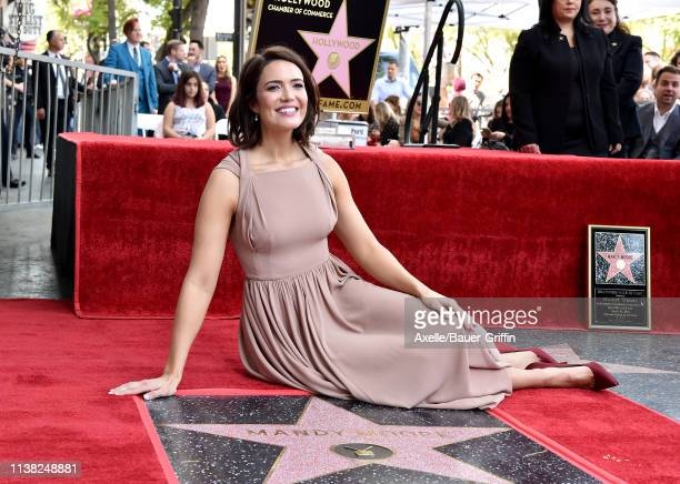 Mandy Moore is honored with Star on the Hollywood Walk of Fame on March 25 2019 in Hollywood California