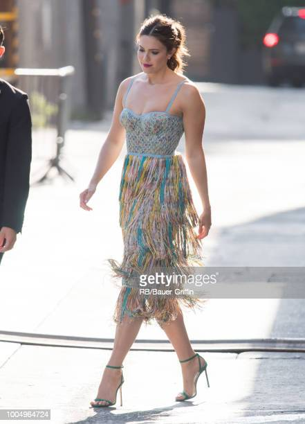 Mandy Moore is seen at 'Jimmy Kimmel Live' on July 24 2018 in Los Angeles California