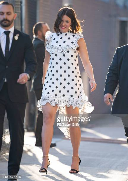Mandy Moore is seen at 'Jimmy Kimmel Live' on March 18 2019 in Los Angeles California