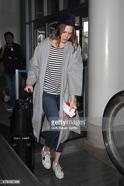 Mandy Moore is seen at LAX on June 09 2015 in Los Angeles California