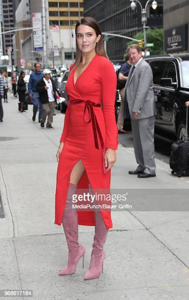 Mandy Moore is seen on June 06 2018 in New York City