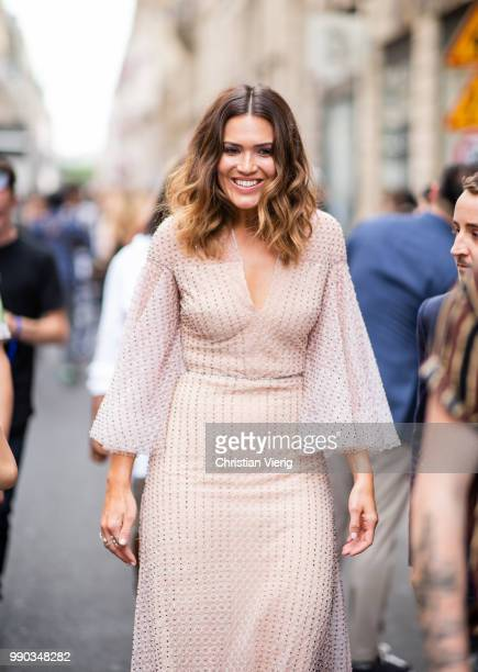 Mandy Moore is seen outside Ralph Russo on day two during Paris Fashion Week Haute Couture FW18 on July 2 2018 in Paris France