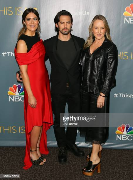 Mandy Moore Milo Ventimiglia and Jennifer Salke attend a screening of NBC's 'This Is Us' Finale on March 14 2017 in Beverly Hills California