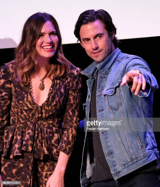Mandy Moore Milo Ventimiglia attend 20th Century Fox Television And NBC's This Is Us FYC Screening And Panel at The Theatre at Ace Hotel on May 29...