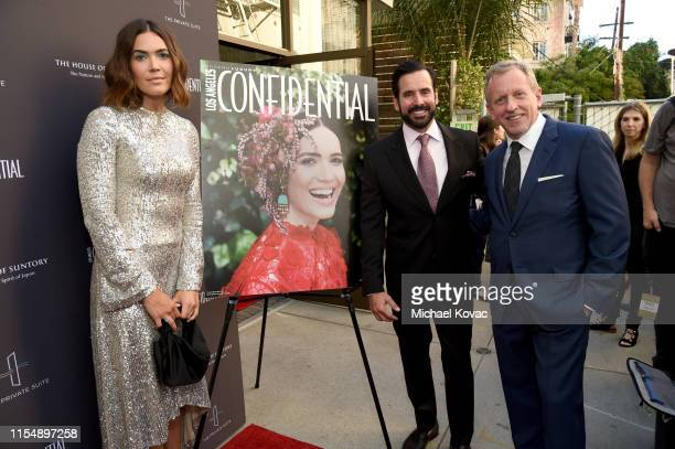 Mandy Moore Modern Luxury's Christopher Gialanella and EditorInChief of Los Angeles Confidential Spencer Beck attend the Los Angeles Confidential...