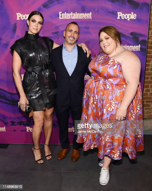 Mandy Moore of This Is Us Entertainment Weekly Editor in Chief Henry Goldblatt and Chrissy Metz This Is Us attend the Entertainment Weekly PEOPLE New...