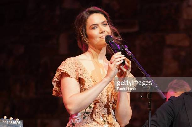 Mandy Moore performs at 20th Century Fox Television and NBC Present This Is Us FYC Event at John Anson Ford Amphitheatre on June 06 2019 in Hollywood...
