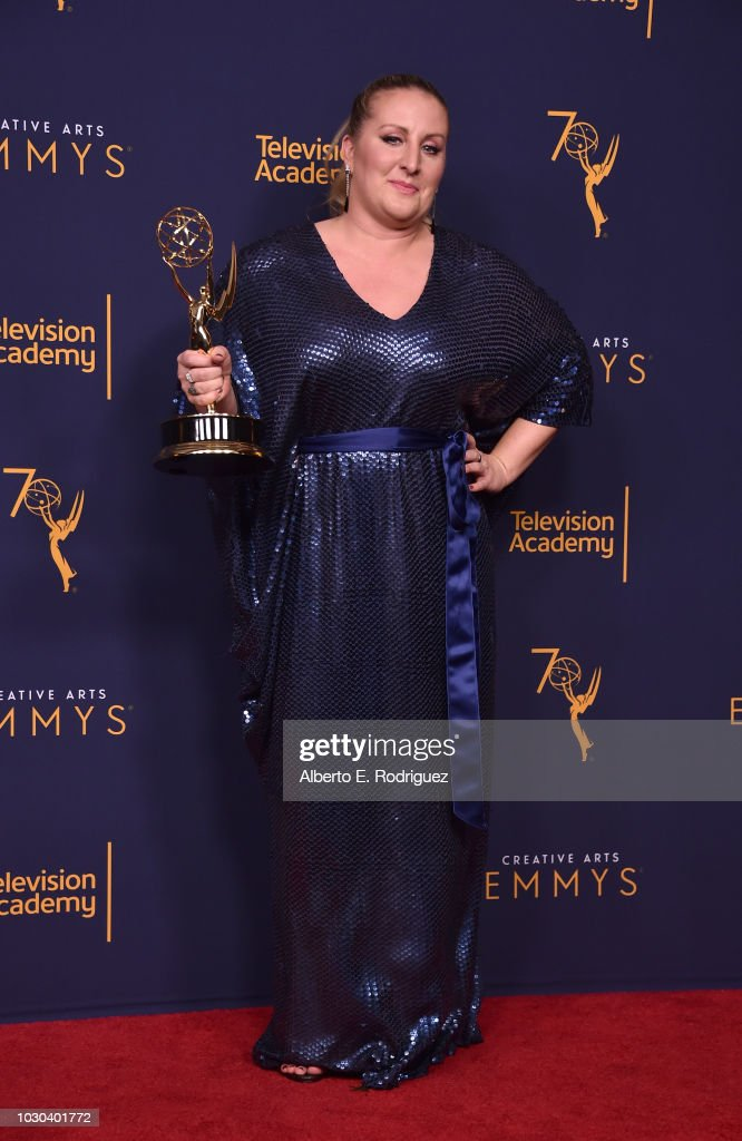 Mandy Moore poses in the press room during the 2018 Creative Arts Emmys at Microsoft Theater on September 9, 2018 in Los Angeles, California.