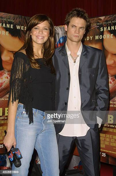 Mandy Moore Shane West during Mandy Moore Shane West Attend A Special Screening Of Their Movie A Walk To Remember At Planet Hollywood at Planet...