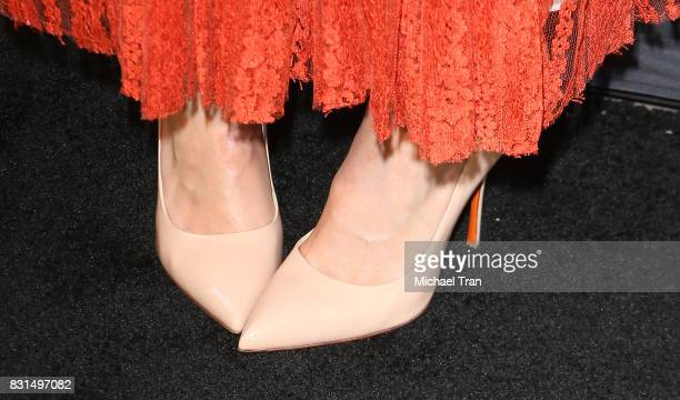 Mandy Moore shoe detail arrives at the FYC panel event for 20th Century Fox and NBC's This Is Us held at Paramount Studios on August 14 2017 in...