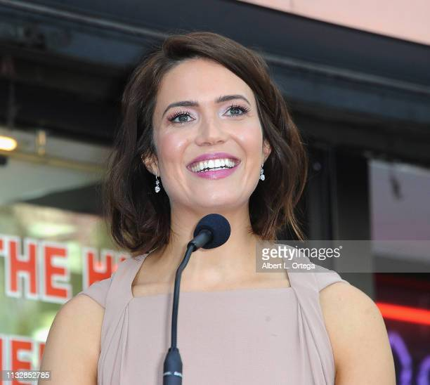 Mandy Moore speaks at her star ceremony on The Hollywood Walk Of Fame on March 25 2019 in Hollywood California