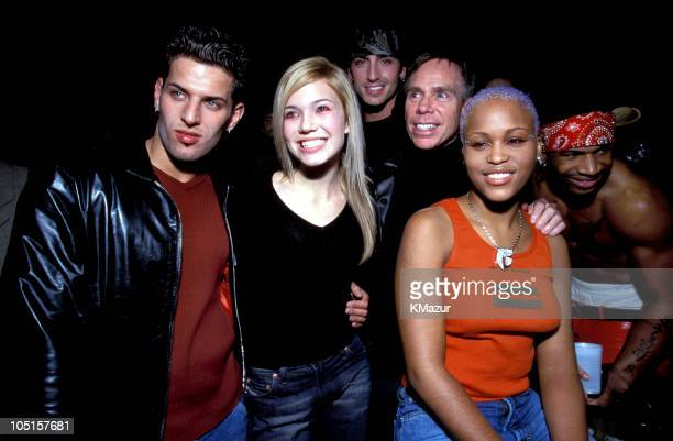 LFO Mandy Moore Tommy Hilfiger and Eve during Tommy Hilfiger Fall 2000 Fashion Show Backstage at Macy's in New York City New York United States