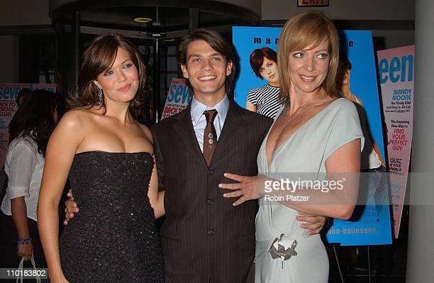 Mandy Moore Trent Ford and Allison Janney during 'How To Deal' New York Premiere Red Carpet at Loews Lincoln Square in New York New York United States