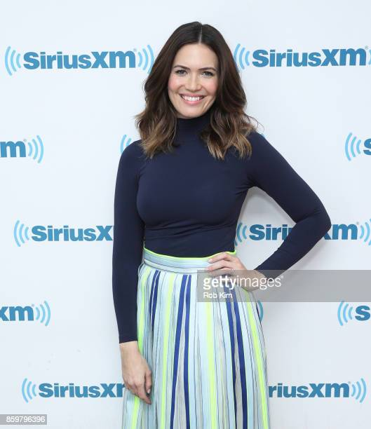 Mandy Moore visits at SiriusXM Studios on October 10 2017 in New York City