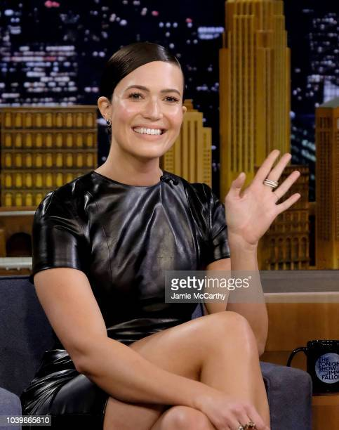 Mandy Moore visits 'The Tonight Show Starring Jimmy Fallon' at Rockefeller Center on September 24 2018 in New York City