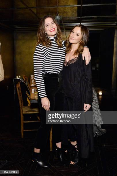Mandy Mooree and Minka Kelly attend Jenni Kayne Fall 2017 Collection Launch Dinner at Gjelina on February 8 2017 in Venice California