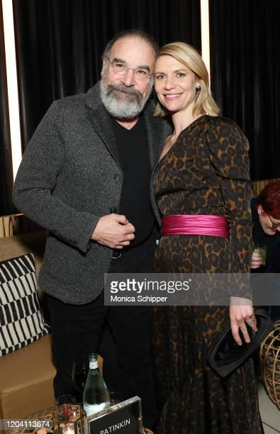 """Mandy Patinkin and Claire Danes attend the """"Homeland"""" Season 8 Premiere After Party at The Lobster Club on February 04, 2020 in New York City."""