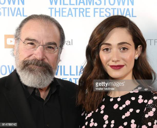Mandy Patinkin and Emmy Rossum attend the 2018 Williamstown Theatre Festival Gala at the Tao Downtown on February 5 2018 in New York City