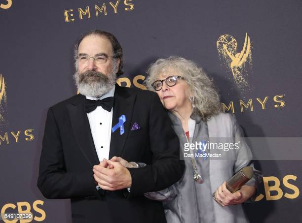 Mandy Patinkin and Kathryn Grody arrive at the 69th Annual Primetime Emmy Awards at Microsoft Theater on September 17 2017 in Los Angeles California