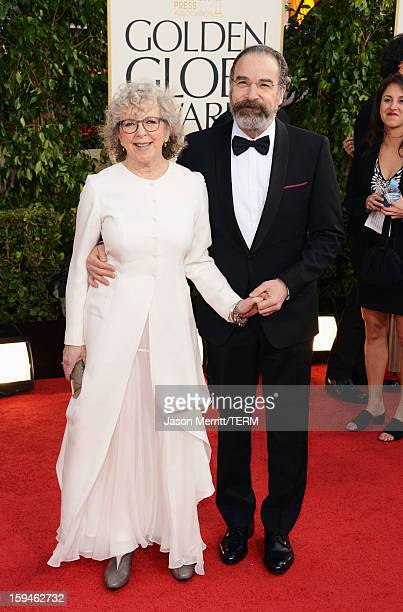 Mandy Patinkin and Kathryn Grody arrives at the 70th Annual Golden Globe Awards held at The Beverly Hilton Hotel on January 13 2013 in Beverly Hills...