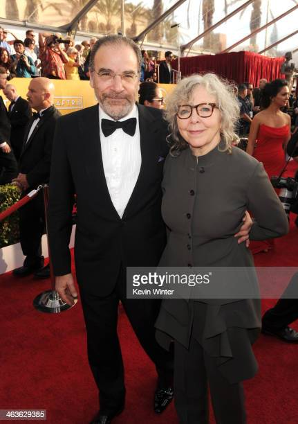 Mandy Patinkin and Kathryn Grody attend 20th Annual Screen Actors Guild Awards at The Shrine Auditorium on January 18 2014 in Los Angeles California
