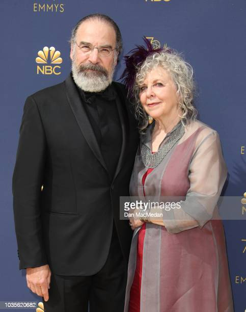 Mandy Patinkin and Kathryn Grody attend the 70th Emmy Awards at Microsoft Theater on September 17 2018 in Los Angeles California