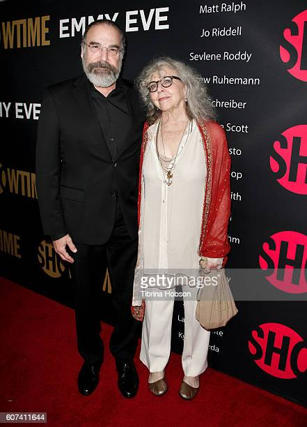 Mandy Patinkin and Kathryn Grody attend the Showtime Emmy Eve Party at Sunset Tower on September 17 2016 in West Hollywood California