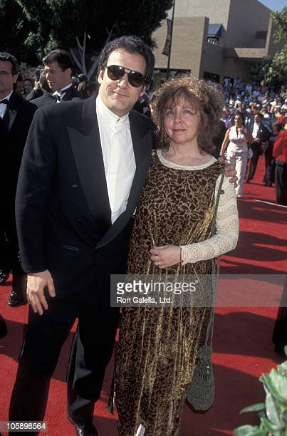 Mandy Patinkin and Kathryn Grody during 47th Annual Primetime Emmy Awards at Pasadena Civic Auditorium in Pasadena California United States