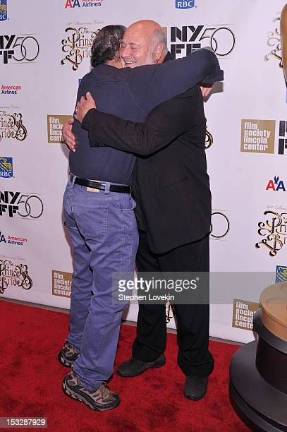 Mandy Patinkin and Rob Reiner attend the 25th anniversary screening cast reunion of 'The Princess Bride' during the 50th New York Film Festival at...