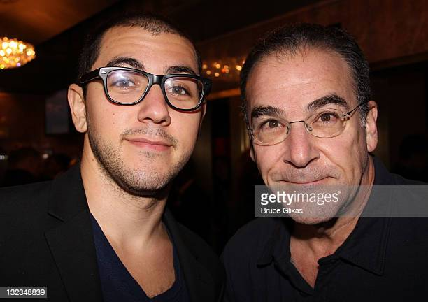 Mandy Patinkin and son Gideon pose at the opening night of Hugh Jack Back On Broadway at Broadhurst Theatre on November 10 2011 in New York City