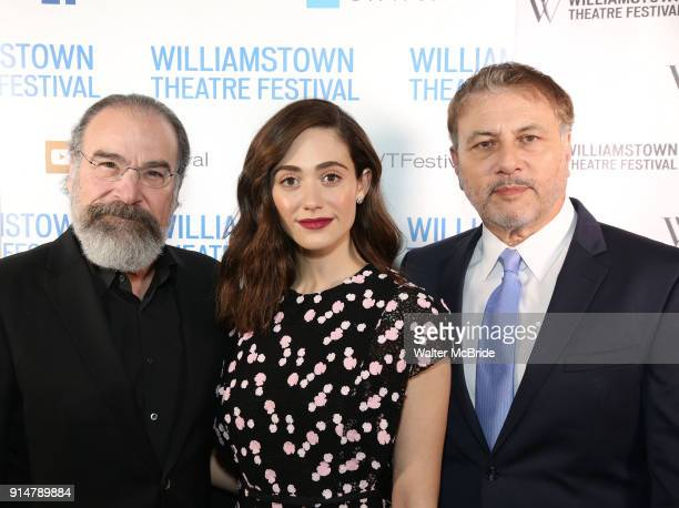 Mandy Patinkin Emmy Rossum and Gary Levine attend the 2018 Williamstown Theatre Festival Gala at the Tao Downtown on February 5 2018 in New York City