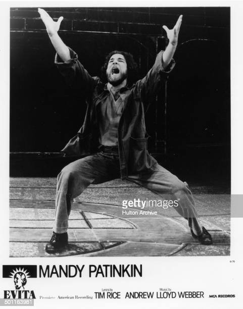 Mandy Patinkin performs on stage during the stage play Evita in 1979.