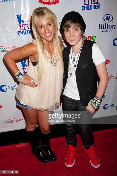 Mandy Rain and Jordan Jansen attend the Kids Help Children Charity Event Benefiting CHOC Children's Hospital at Anaheim Hilton Hotel on August 14...