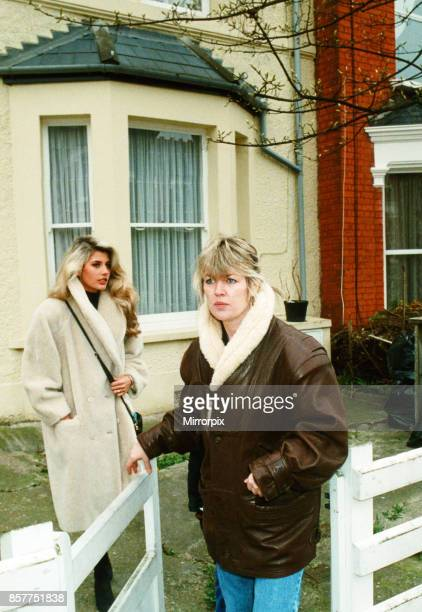Mandy Smith and her mother Patsy leaving their home in London 4th April 1989