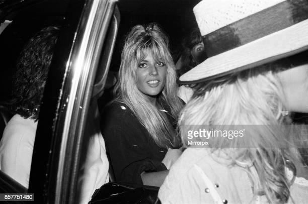 Mandy Smith at Gatwick Airport 14th August 1986