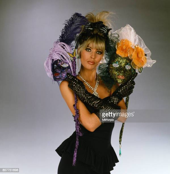 Mandy Smith models festive fashions 9th December 1987