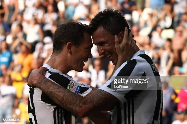 Mandzukic celebrates after scoring his goal during the Serie A football match n1 JUVENTUS CAGLIARI on at the Allianz Stadium in Turin Italy