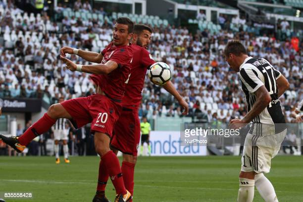 Mandzukic heads the ball during the Serie A football match n1 JUVENTUS CAGLIARI on at the Allianz Stadium in Turin Italy
