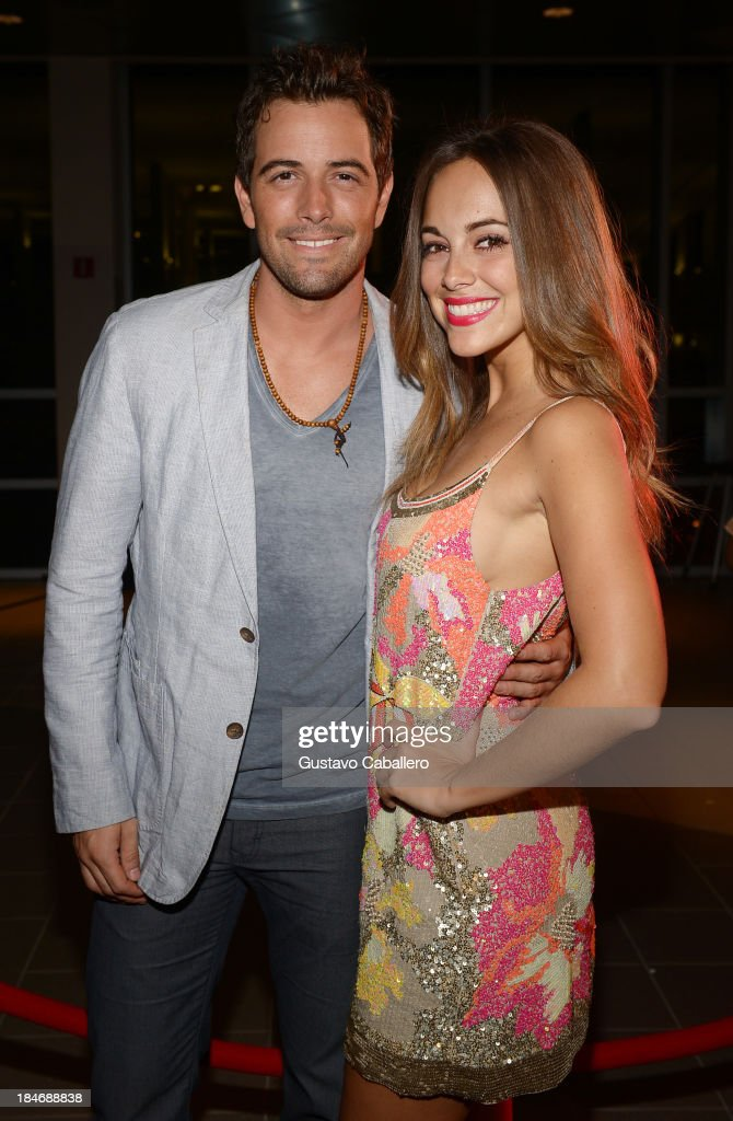 Mane De La Parra and Maria Elisa Camargoarrives for the premiere of 'The Snitch Cartel'at Regal South Beach on October 14, 2013 in Miami, Florida.