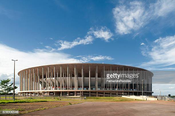 mané garrincha national stadium - distrito federal brasilia stock pictures, royalty-free photos & images
