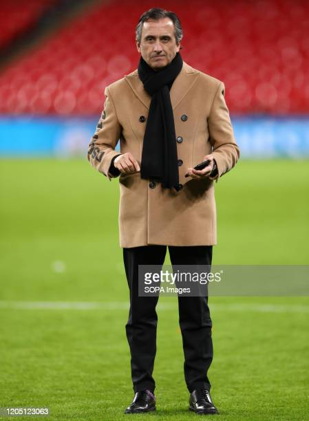 Manel Estiarte Duocastella of Manchester City is seen after the Carabao Cup Final match between Aston Villa and Manchester City at Wembley Stadium