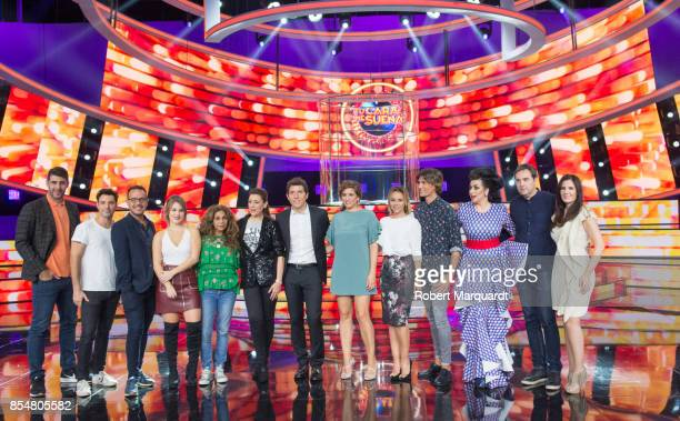 Manel Fuentes and cast pose for the press during a presentation of a new season of 'Tu Cara Me Suena' at the Media Park Studios on September 27 2017...