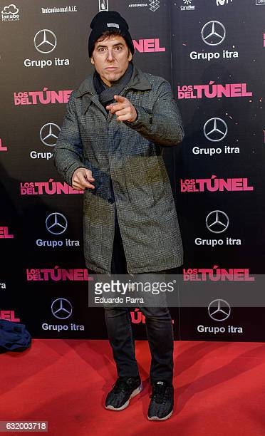 Manel Fuentes attends 'Los del Tunel' premiere at Capitol cinema on January 18 2017 in Madrid Spain