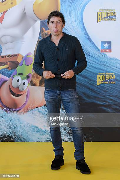Manel Fuentes attends the 'Bob Esponja' Premiere at Kinepolis Cinema on January 31 2015 in Madrid Spain