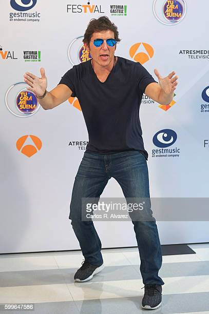 Manel Fuentes attends 'Tu Cara Me Suena' photocall during FesTVal 2016 Day 2 Televison Festival on September 6 2016 in VitoriaGasteiz Spain